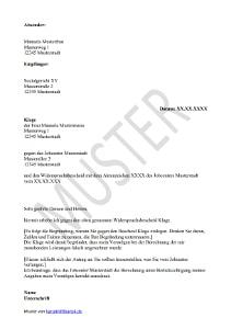 muster klage gegen hartz 4 bescheid - Renovierungskosten Hartz 4 Antrag Muster