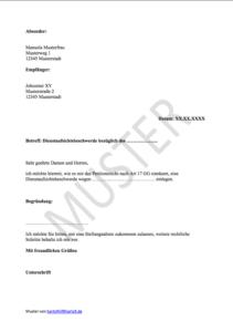 Muster: Dienstaufsichtsbeschwerde